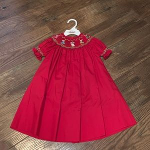 Smocked Christmas Dress